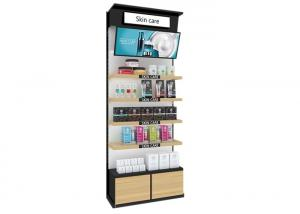 China Lipstick Makeup Display Shelves , Beauty Salon Cosmetic Product Display Stands on sale