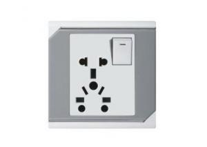 China Middle East type 10A 1gang multi purpose Universal used switched electrical wall  socket   on sale