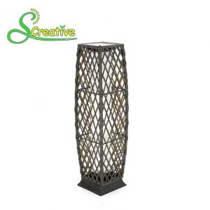 China PE Rattan Wicker Outdoor Solar Lights LED Lamp For Landscape Lighting Decorative on sale
