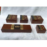 Wooden Wrist Jewellry Storage Boxes Handmade With Stamping / Silk Printing Logo , Multi - Size