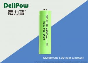 China Customized Capacity AA NIMH Rechargeable Battery 800mAh With UL / CE on sale
