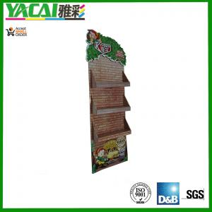 China point of sales corrugated Cardboard sidekick Display with 3 trays Corrugated POP Display on sale