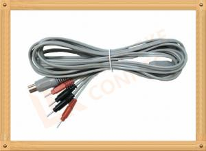 China Din 5 Pin to 2.0 tens unit wires 4 Pin Y Type Medial Tens EMS Cable Lead Wire on sale