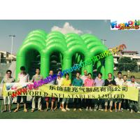 Fire Retardant PVC Inflatables Obstacle Course 5K Climbing Jumping Castle