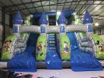 New Disney cartoons inflatable dry slide fun castle inflatable mickey painting high standard slide