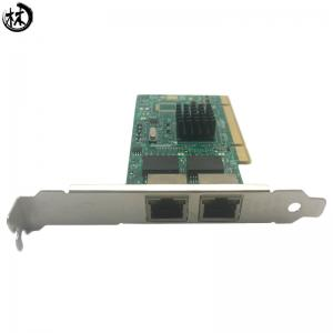 China Diewu intel82546 PCI dual port RJ45 network card lan card for desktop on sale