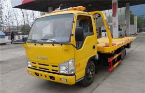 China ISUZU 4X2 100HP Wrecker Towing Truck 4.2 Meters Flatbed Accident Recovery Truck on sale
