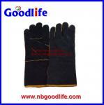 Guante de soldadura hecho de guantes industriales del cuero partido de la vaca