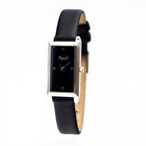 China Quadrate women ' s watches with leather bands / affordable black leather band watch on sale