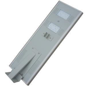 China 30 Watt All In One LED Solar Street Light Light Grey / Black Case SMD3030 Chip on sale
