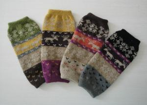 China Multi-color Soft Women's Knitted Arm Warmers on sale