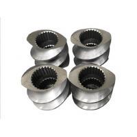 Bimetallic Extrusion Machine Parts , Extruder Screw Elements 0.6-0.8mm NItriding Depth
