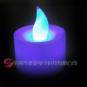 China Blue Flickering LED Candles , PP plastic flameless LED tealight candles on sale