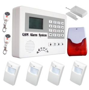 China OEM/ODM auto-dial intelligent gsm alarm systems with large LCD screen on sale