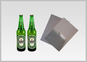 China Washable Silver Metallic Paper With Laser Holographic  Wood Pulp Material Beer Bottle Label in 70gsm on sale