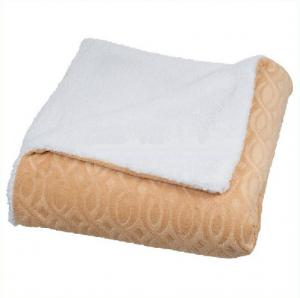 China Embossed Double Sided Flannel Throw Blanket For Sofa / Bedding Ultra Soft on sale