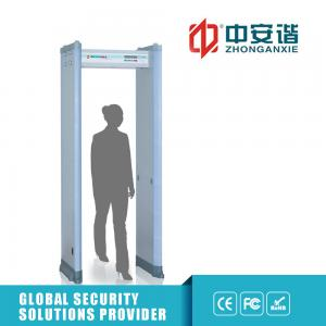 China 455 Sensitivity Walk Through Metal Detector 6 Zones With LED Battery 2200 x 620 x 850mm on sale