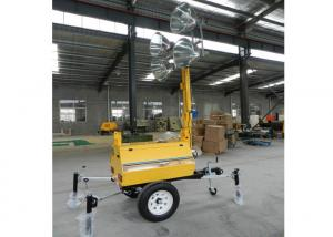 China Metal halide mobile light tower power generator /  trailer light tower 5kw 10kw 20kw on sale