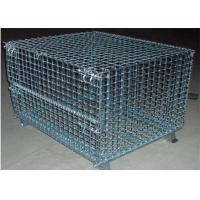 Powder Painted Stackable Metal Cages Double Wire Welded Legs For Transport
