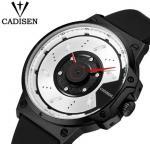 Cadisen Creative Fashion Silicone Strap Waterproof 30m Remarkable Dial Quartz Wrist Watch 9059