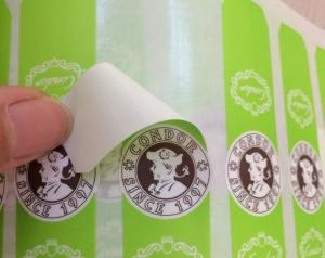 China Screen Printing Self Adhesive Sticky Labels For Plastic Bottles Eco Friendly on sale