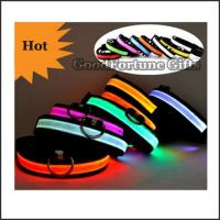 hot sale polyester promotion led flash glow cat dog collar gift printed logo pet supplier