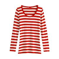 China Valentina Striped Long Sleeve T-shirt(Women) Red/White on sale