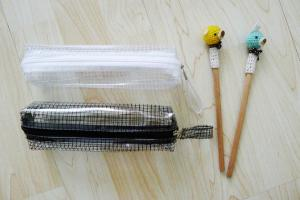China Multi Functional Reusable Ziplock Bags Pens Large Capacity With Sturdy Mesh PVC Vinyl on sale