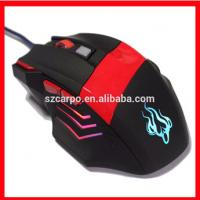 C-518 Hot sale cool wired mouse for gaming with factory price  striking colors