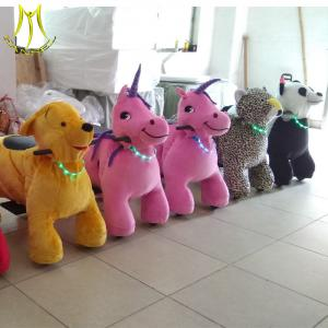 China Hansel  carnival games ride horse toys plush animal toy games machines for kids on sale