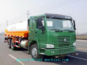 China HOWO 6x4 Water Tank Truck / 25000L Oil Tanker Trailer 371 Horsepower on sale