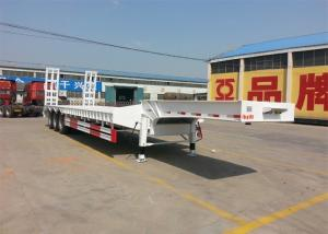 China 50 - 80T Heavy Duty Semi Trailers 3 Axle Lowbed Semi Trailer WABCO Valve on sale