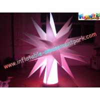 Colored Inflatable Lighting Decoration Cone , 5m LED Color Changing Lights Pillar