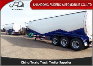 China CE certification W shape bulk cement semi trailer , BPW axles pulverized fly ash coal ash powder tank on sale