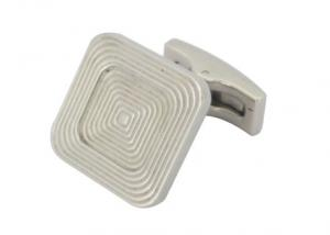 China Two Layer Labyrinth Line Square Mens Designer Cufflinks Stainless Steel Jewelry on sale
