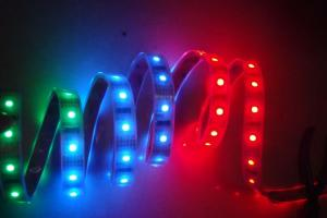 China Muti Color 5050 60leds/m LED Strip Light Set with Adapter and 24keys Controller on sale