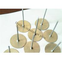 Galvanized Self Adhesive Insulation Pins With Round Base Use for Air Conditioner