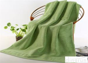 China Satin Bamboo Cotton Bath Towels Bright Colored With Multi Sizes on sale
