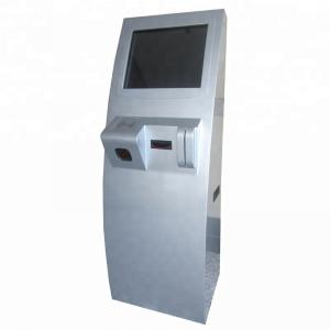 China 17 19 Inch Floor Stand Touch Payment Terminal Kiosk With QR Reader, Card Reader, Bill Acceptor on sale