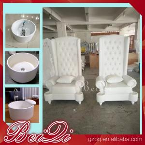 China Pedicure spa with high back throne chair comfortable luxury pedicure spa massage chair for nail on sale