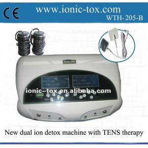 China Dual ion foot detox ion machine with FIR belt new spa with TENS massage therapy on sale