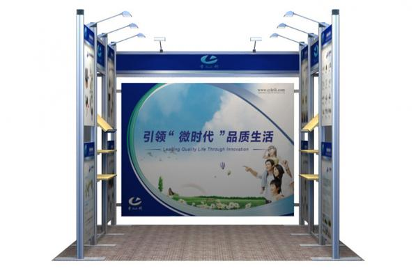 Portable Exhibition Booths : Customized 10x10 booth display standard portable exhibition booths