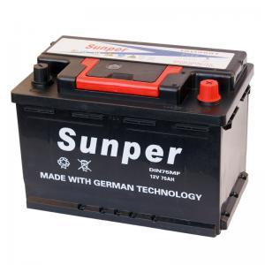 75ah Rechargeable Lead Acid Car Battery Voltage 12v German