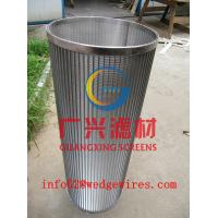 stainless steel 304 wedge wire  slotted tube filter elements for  backflushing filter