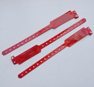 China Hospital TK4100 Disposable Rfid Bracelet , Thin Soft Plastic Rfid Wristband on sale
