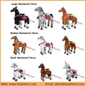 China Cuddly Stuffed Horse Kids Toys, Toys Mechanical Riding Horse, Antique Toy Horse for Child wholesale