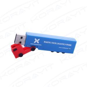 China Transport Truck Plastic USB Flash Drive, Custom Logo Plastic Truck USB Thumb Drive supplier