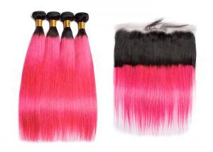 China Brazilian Long 1BPink Human Hair Straight No Tangle No Shedding on sale