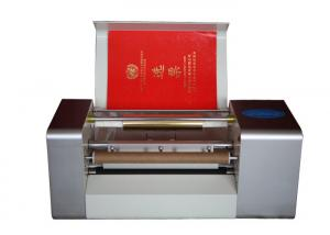 China Desktop Plateless Hot Foil Roll To Roll Hot Foil Machine , Roll Material Bronzing Machine on sale