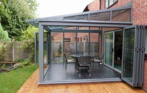 China Glass panel aluminum frame waterproof garage aluminium doors and windows on sale
